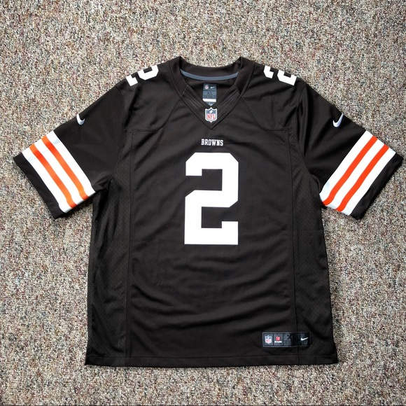 3afdb5fe Johnny Manziel Nike On Field Browns Jersey Mens XL